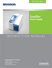 Branson SFX Sonifier Instruction Manual User Guide